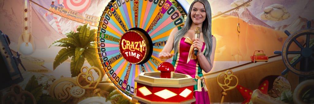 Crazy Time - Evolution gameshow med många bonusspel