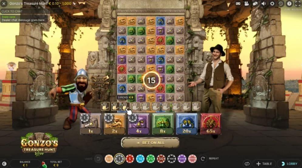 Gonzo's Treasure Hunt Live - Detta vet vi om spelet