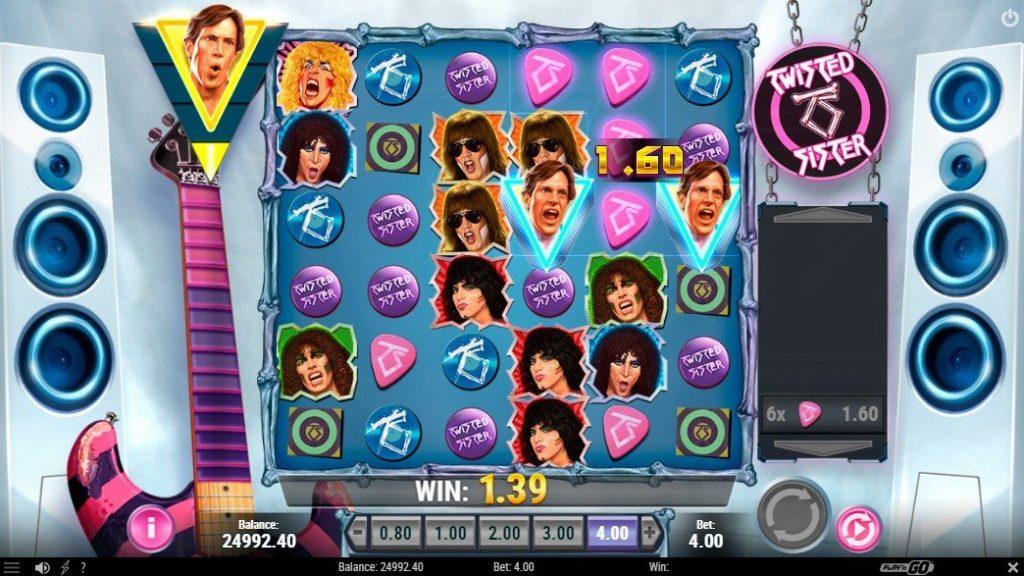 Twisted Sister - Klassisk hårdrocksslot från Play'n GO