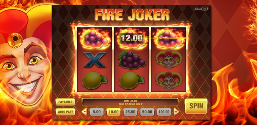 Fire Joker - Rykande het Joker slot från Play'n GO